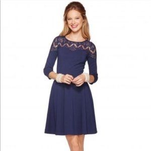 Lilly Pulitzer Remmy Lace Fit & Flare Dress Navy